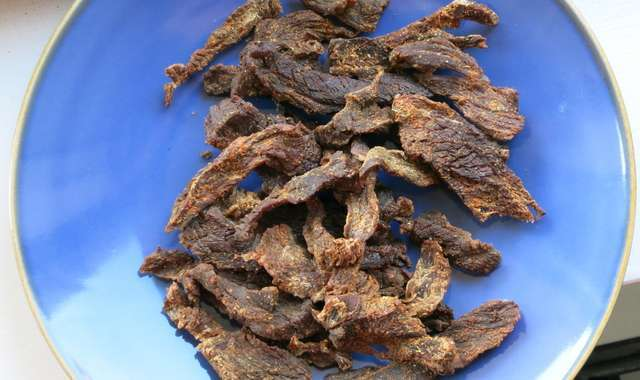 Smoked-paprika-and-lime beef jerky