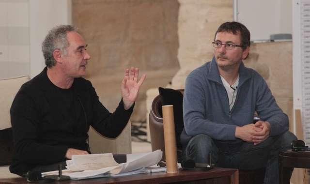 Chefs Ferran Adrià & Andoni Luis Aduriz at the Conclave