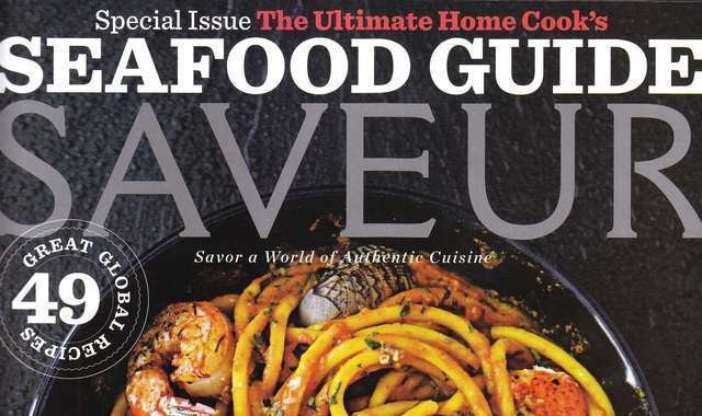 Saveur seafood issue cover