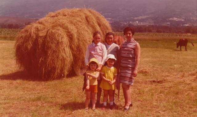 My family and I, on my grandmother's farm.