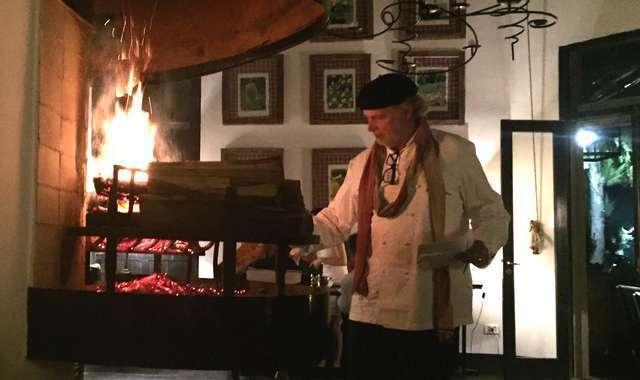 Chef Francis Mallman at the grill in his Garzón restaurant (Photo by Sofia Perez)