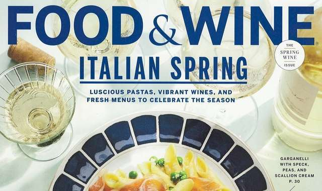 Food+Wine April 2019 cover-crop
