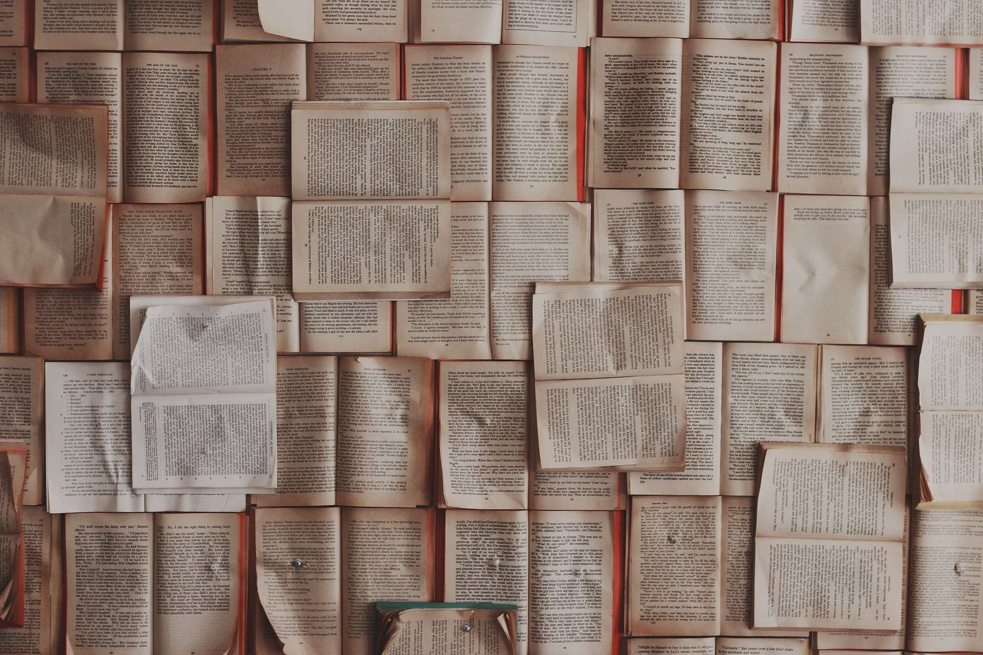 open pages of books