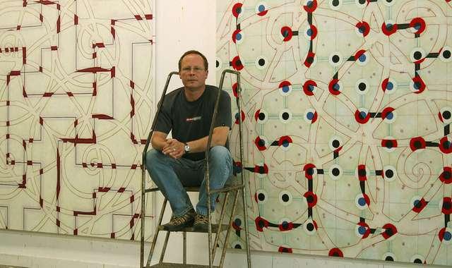 WC Richardson in his studio